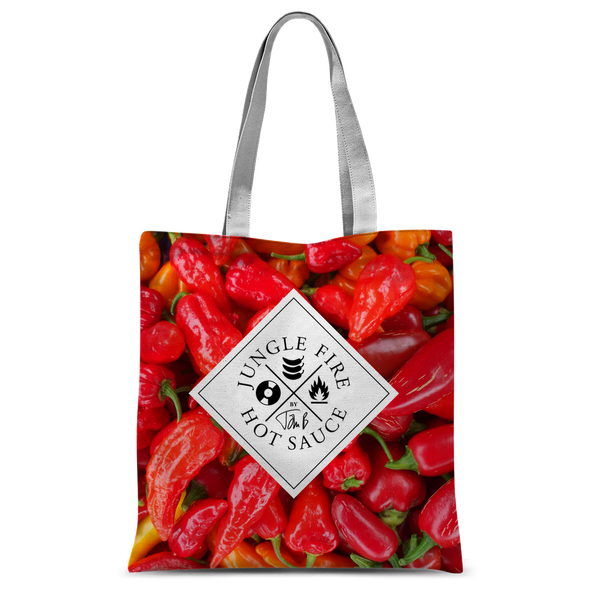 Jungle Fire Hot Chilli Print Tote Bag