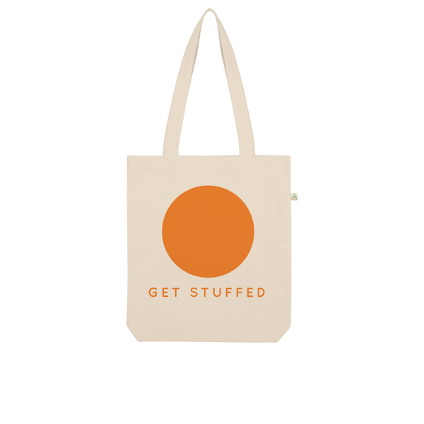 Get Stuffed (and focus on your breathing) Organic Tote Bag
