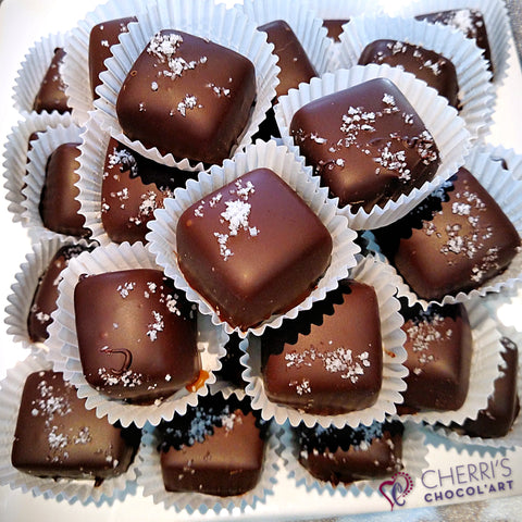 Salted Caramels - Dark Chocolate - Half Pound