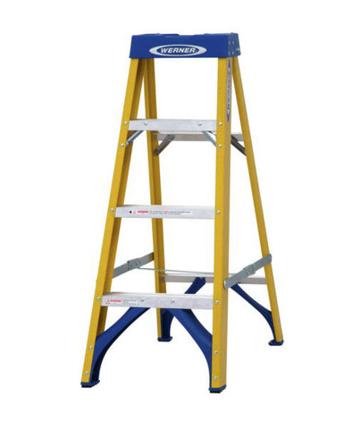 Werner Fibreglass Swingback Stepladder