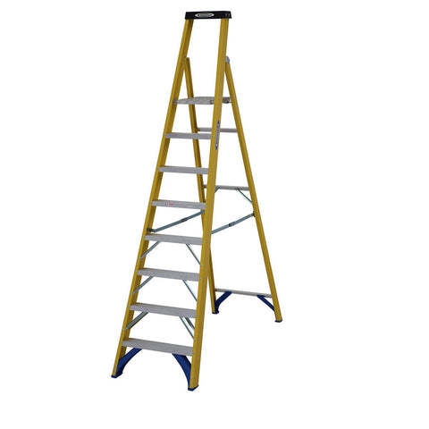 Werner Stepladder Fibreglass Platform Trade