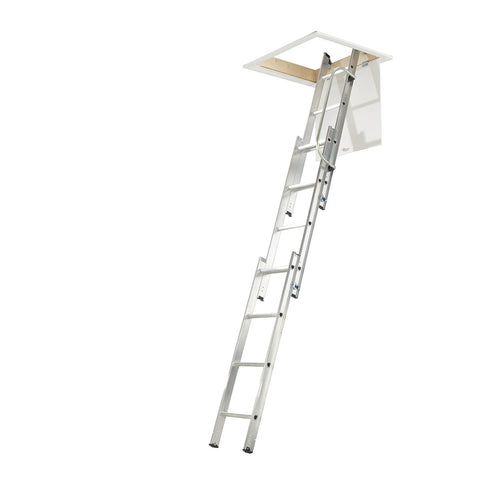 Werner Loft Ladder 3 Section with Handrail