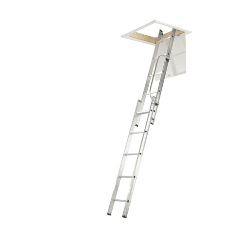 Werner Loft Ladder 2 Section with Handrail