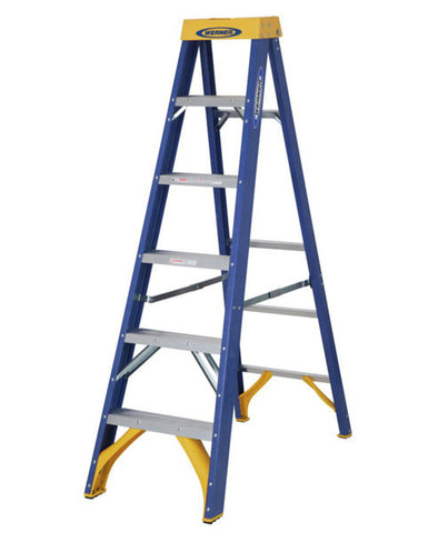 Werner Industrial Fibreglass Stepladder