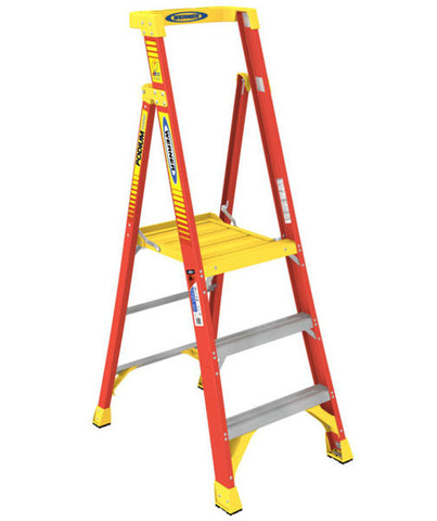 Werner Fibreglass Podium Stepladder