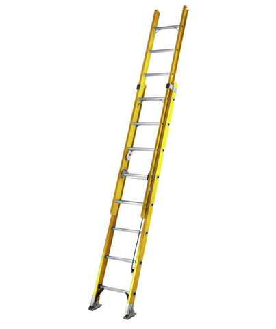 ALFLO Fibreglass Trade Double Extension Werner Ladder