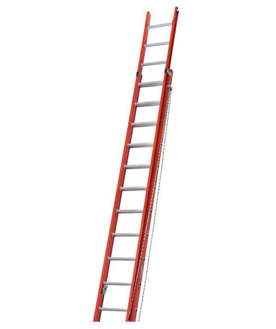 alflo fibreglass utility double extension werner ladder - Werner Ladder