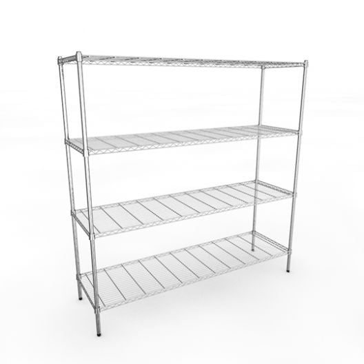 Classic 1830mm Chrome Wire Racking