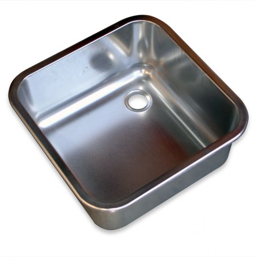 Classic 400 x 400 x 250mm Stainless Steel Inset Bowl
