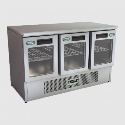 Genfrost G903/GDU 3 Glass Door Saladette