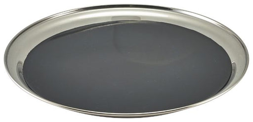 Non Slip Stainless Steel Round Tray