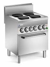 Mareno 4 Plate Cooker With Convectional Electric Oven C6FES7EP