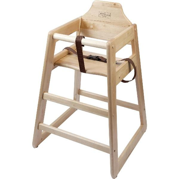 Wooden High Chair - Light Wood - Gecko Catering Equipment
