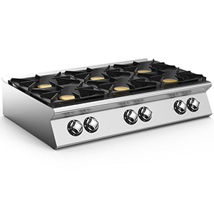 Mareno 6 Burner Gas Top Hob NC712G36