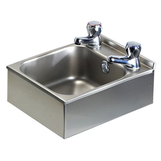 Classic Compact Wall Mounted Stainless Steel Hand Basin