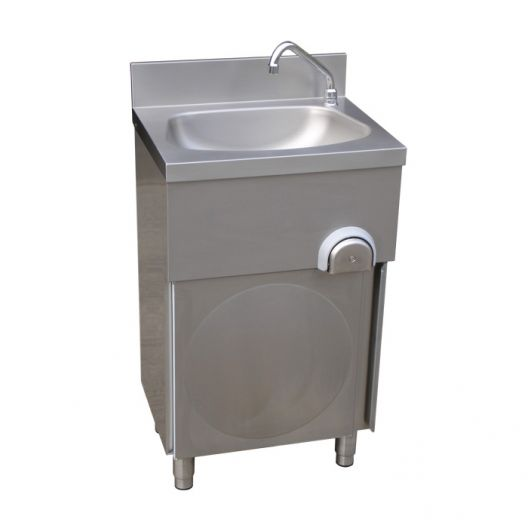 Classic Floor Standing Leg Operated Stainless Steel Hand Basin