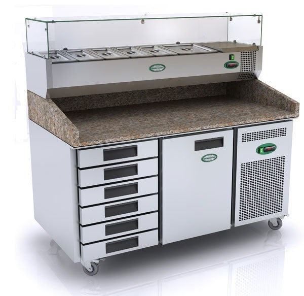 Genfrost GPZ2600DR 1 Door Prep Counter