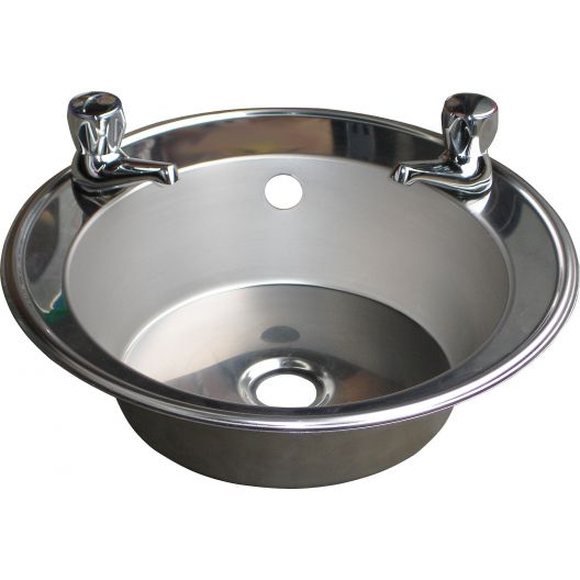 Classic Inset Stainless Steel Hand Basin (With Tap Holes)