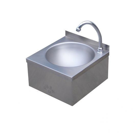 Classic Leg Operated Stainless Steel Hand Basin #1