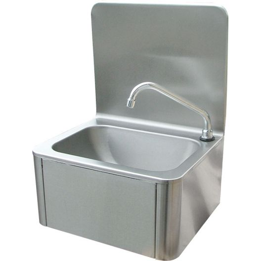 Classic Leg Operated Stainless Steel Hand Basin #2