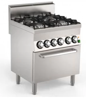 Mareno Gas Range 4 Burners On Electric Oven C6FEV7GP