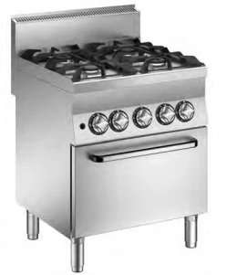 Mareno Gas Range 4 Burners On Gas Oven C6FG7GP