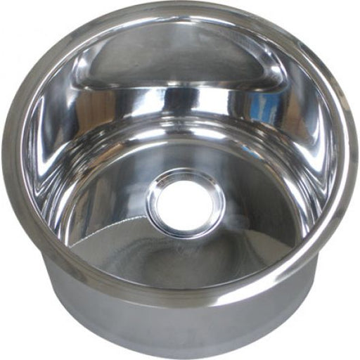 Classic Cylindrical Inset Stainless Steel Hand Basin (⌀300mm)