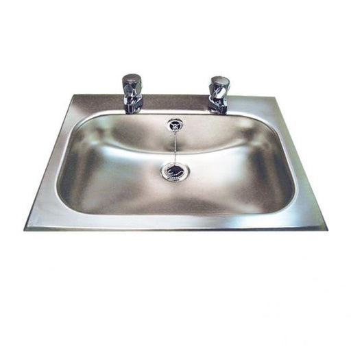 Classic Inset Stainless Steel Hand Basin With Tap Holes
