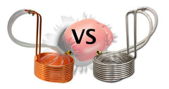 copper vs stainless steel immersion chiller