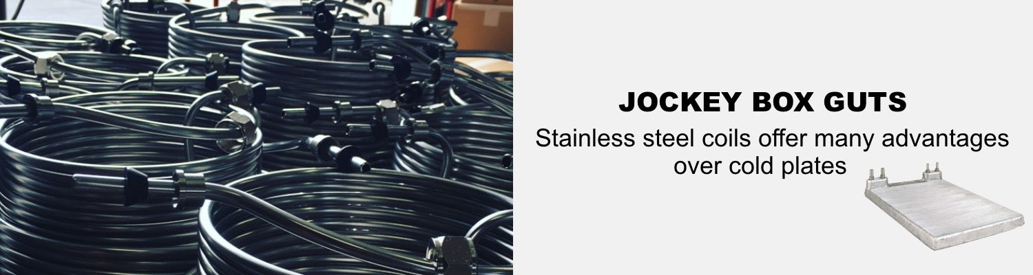 stainless steel coils vs cold plates in jockey boxes