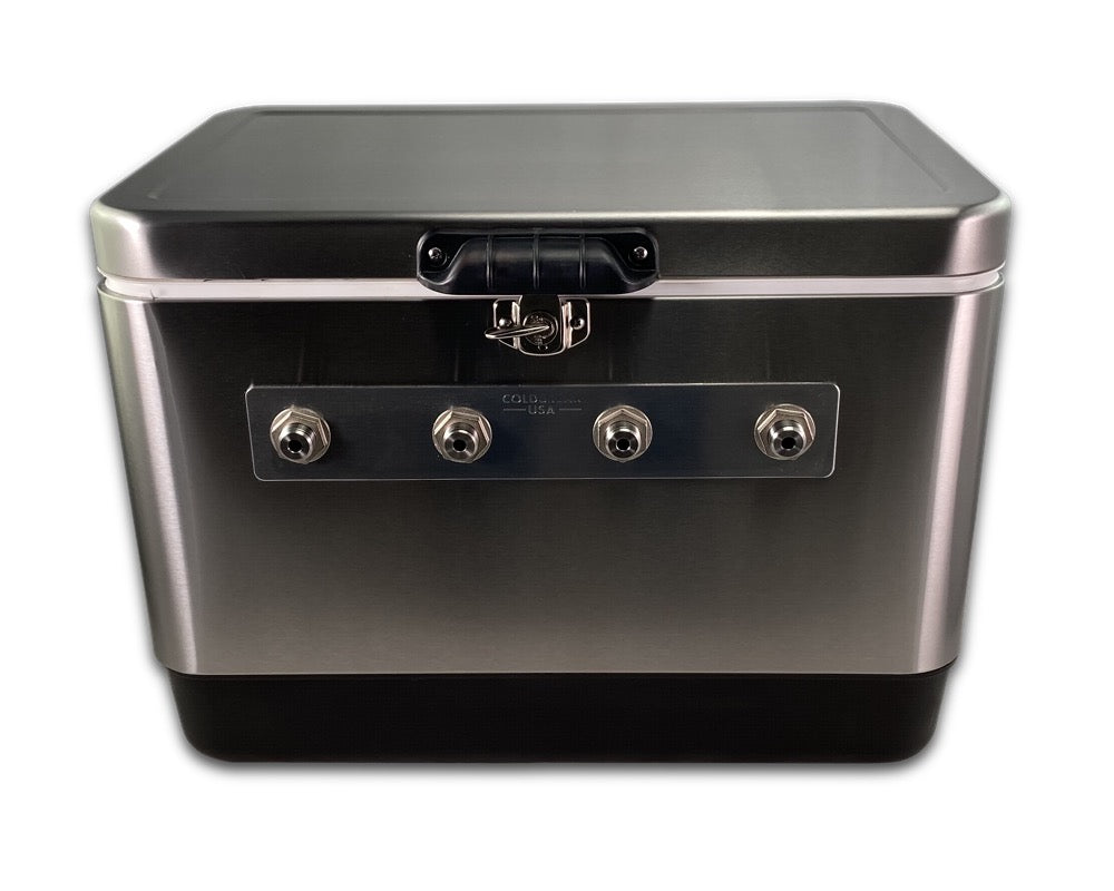 2 Tap Stainless Jumper Box - Front Inputs