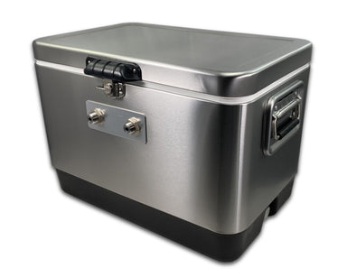 mobile beer trailer keg chilling unit, 2 tap, angle