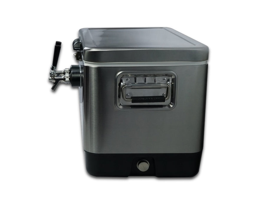 2 Tap Stainless Jockey Box - Rear Inputs