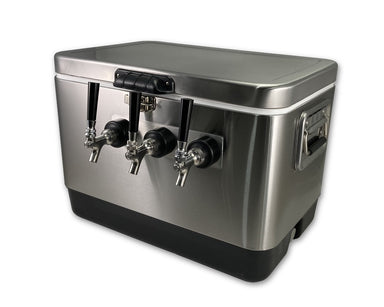 COLDBREAK 3 tap stainless steel jockey box