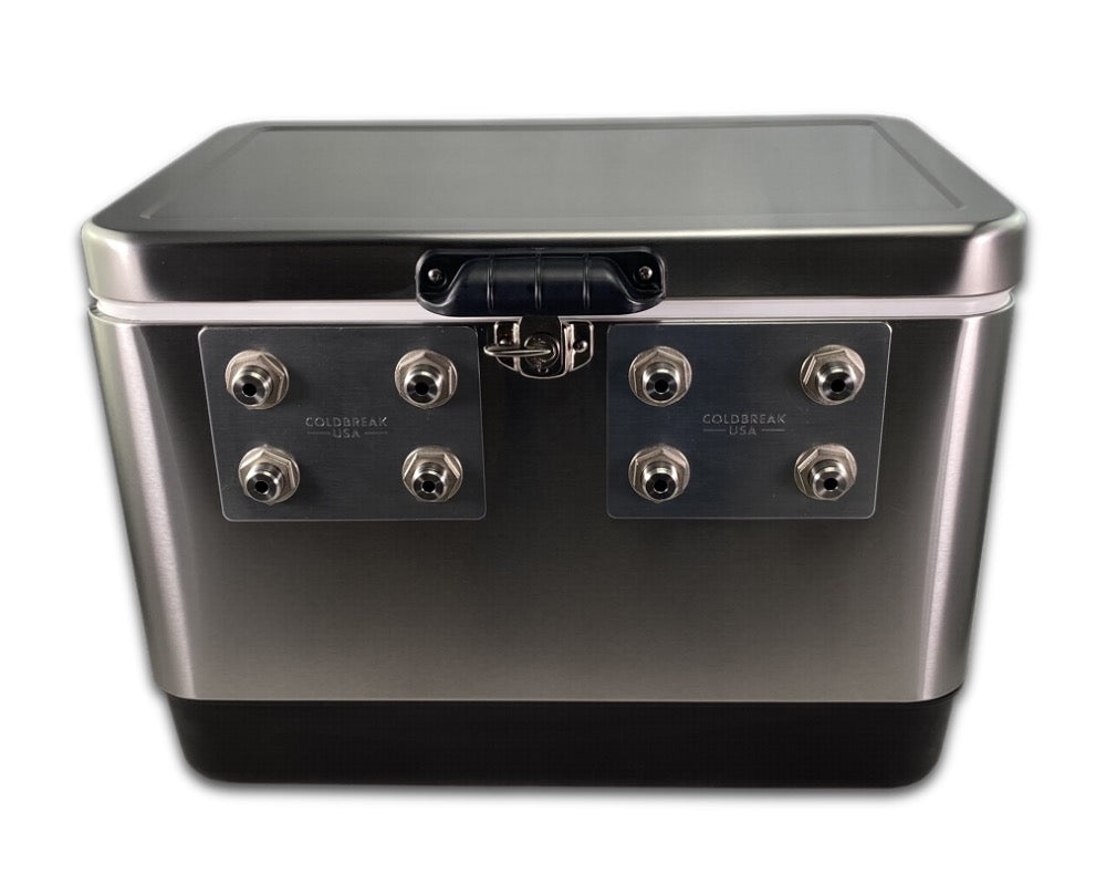 4 Tap Stainless Jumper Box - Front Inputs