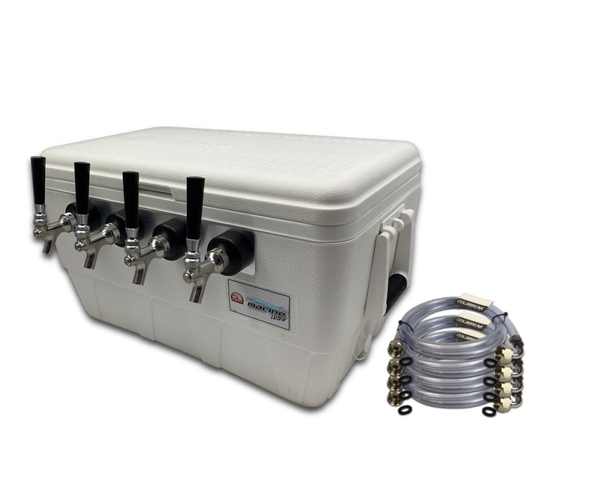 4 tap jockey box with beverage jumpers
