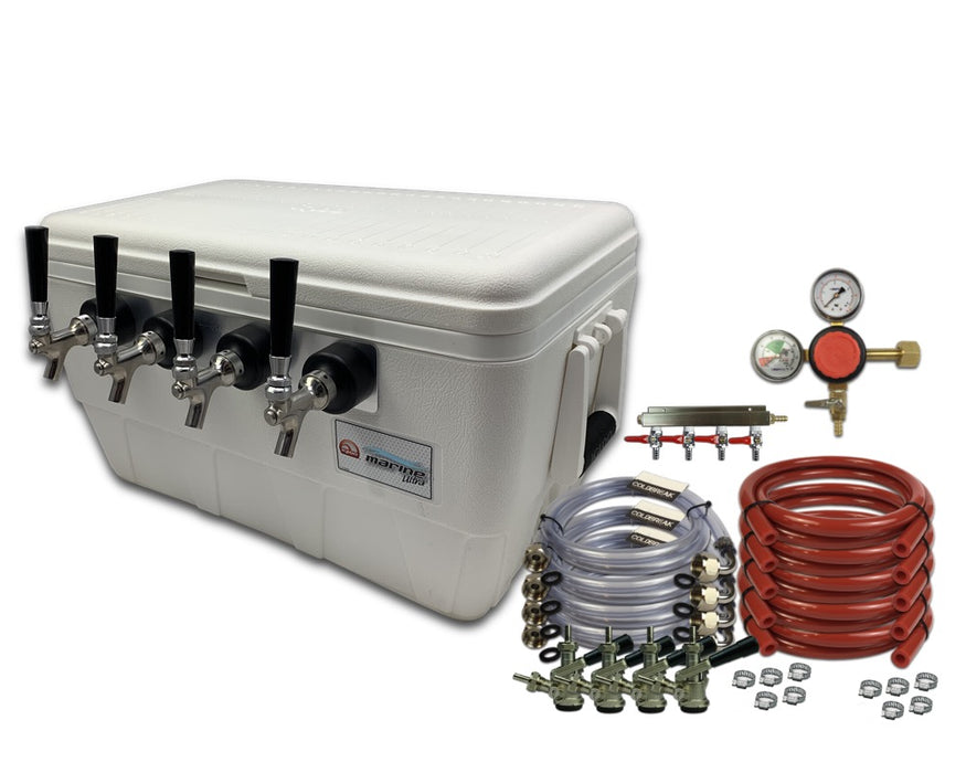 4 tap jockey box with dispensing kit