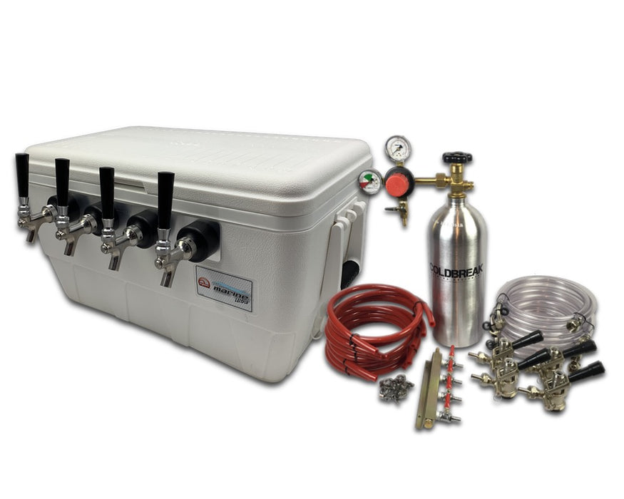 4 tap jockey box with kit and co2 tank