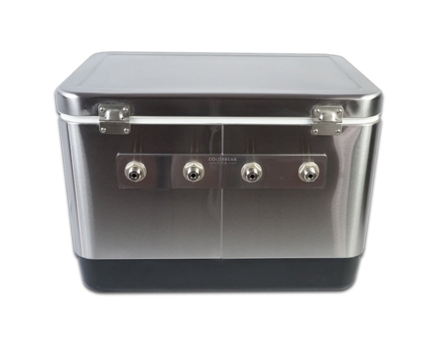 4 Tap Stainless Jockey Box - Rear Inputs