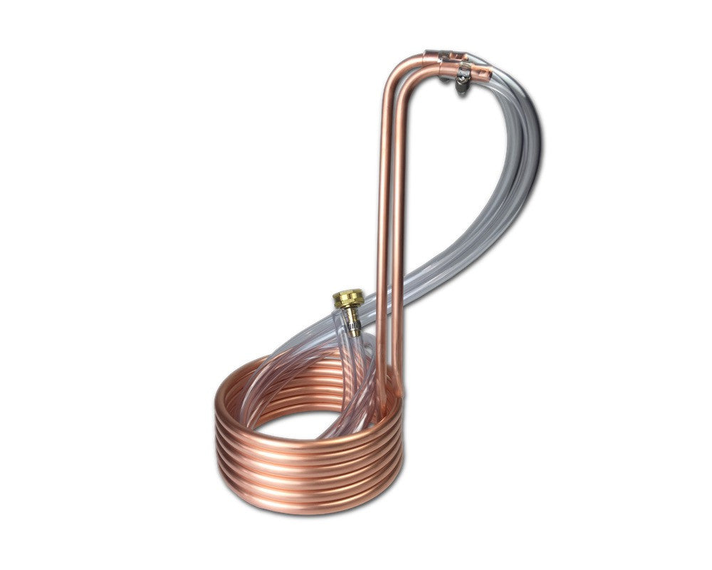 "12.5' Compact Copper Immersion Wort Chiller (3/8""OD)"