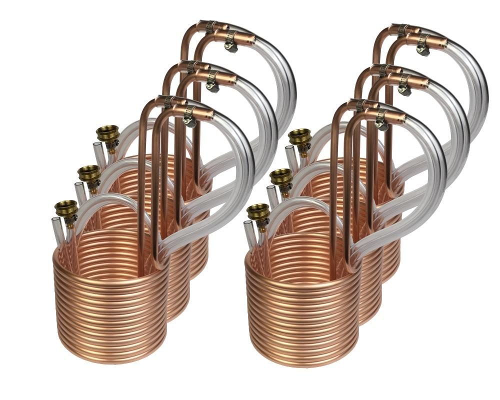 "6 PACK - 25' Compact Immersion Wort Chillers (3/8""OD)"