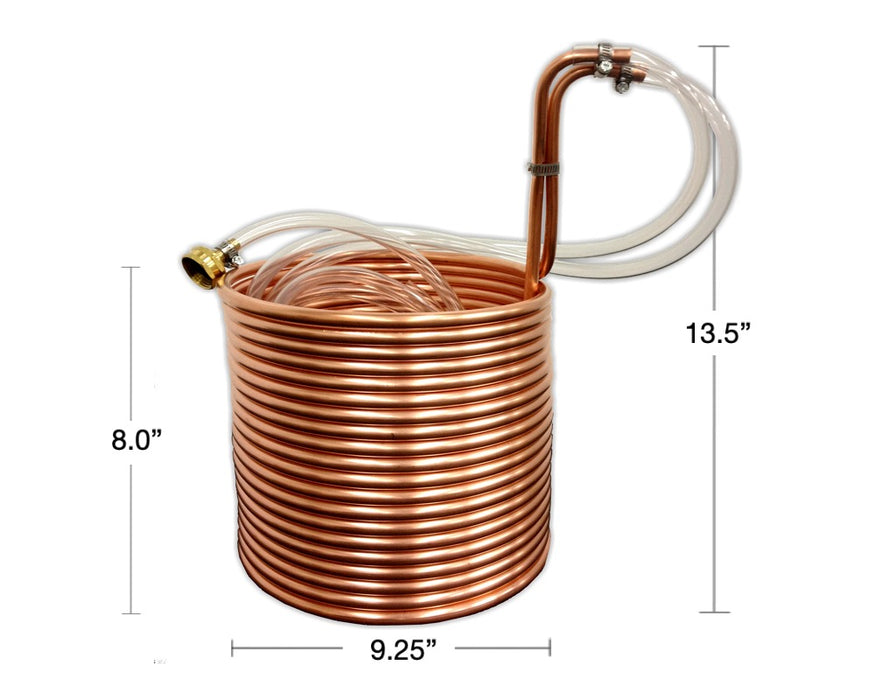 "50' Jumbo Copper Immersion Wort Chiller (3/8""OD)"