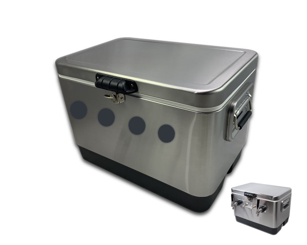 Cooler, 54 Quart, Stainless Steel