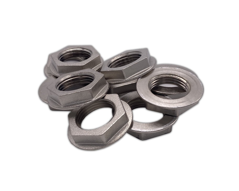 Flanged Lock Nut for Beer Shank - 10 Pack
