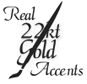 Real 22Kt Gold Accents