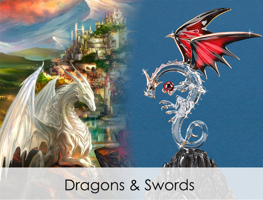 Shop handcrafted glass art of dragons & swords