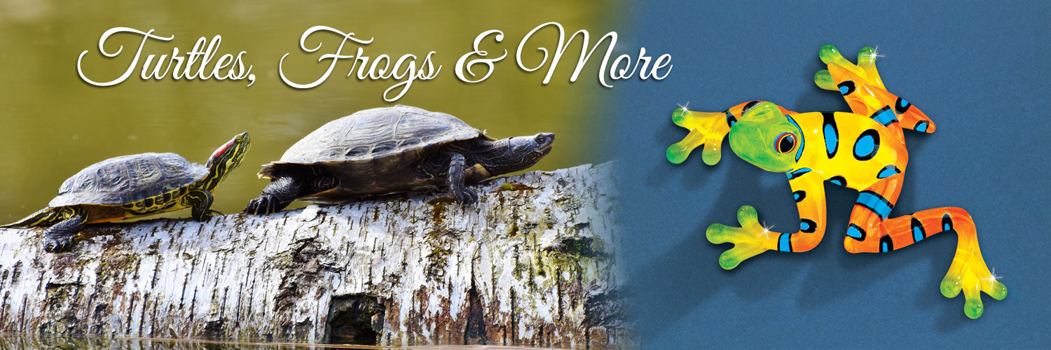 Shop handcrafted glass art frogs, lizards, and turtles.