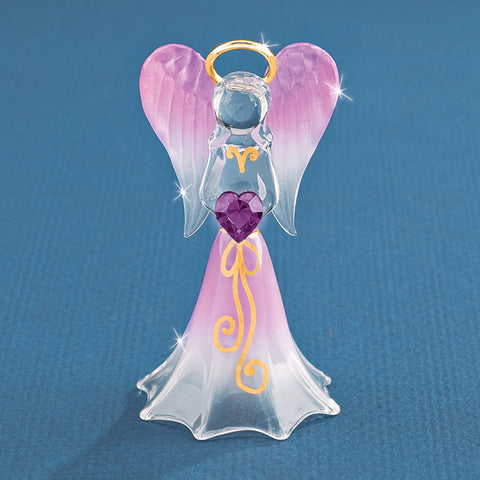 Lavender Angel with Crystal