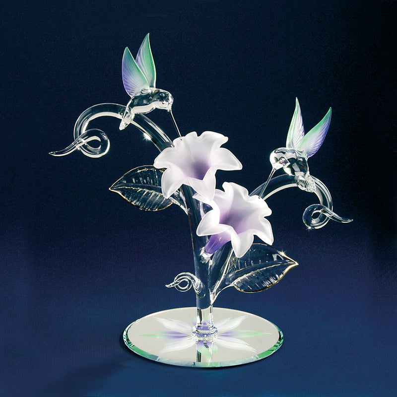 Hummingbirds with Lavender Lilies