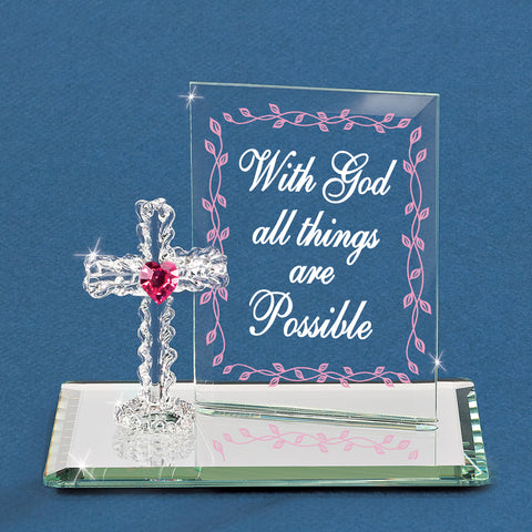 """With God all Things are Possible"" with Cross"